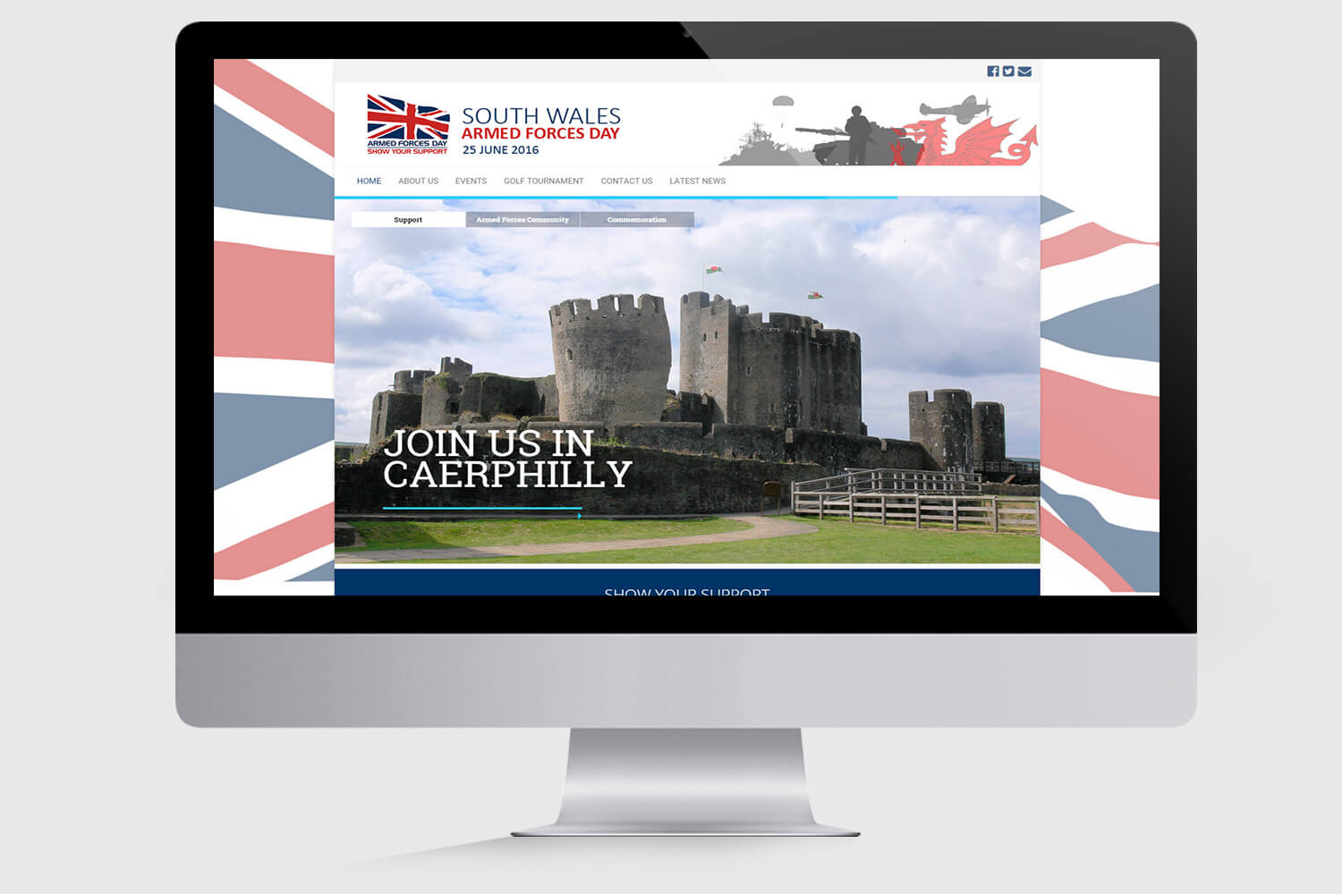 South Wales Armed Forces Day Mockup 1