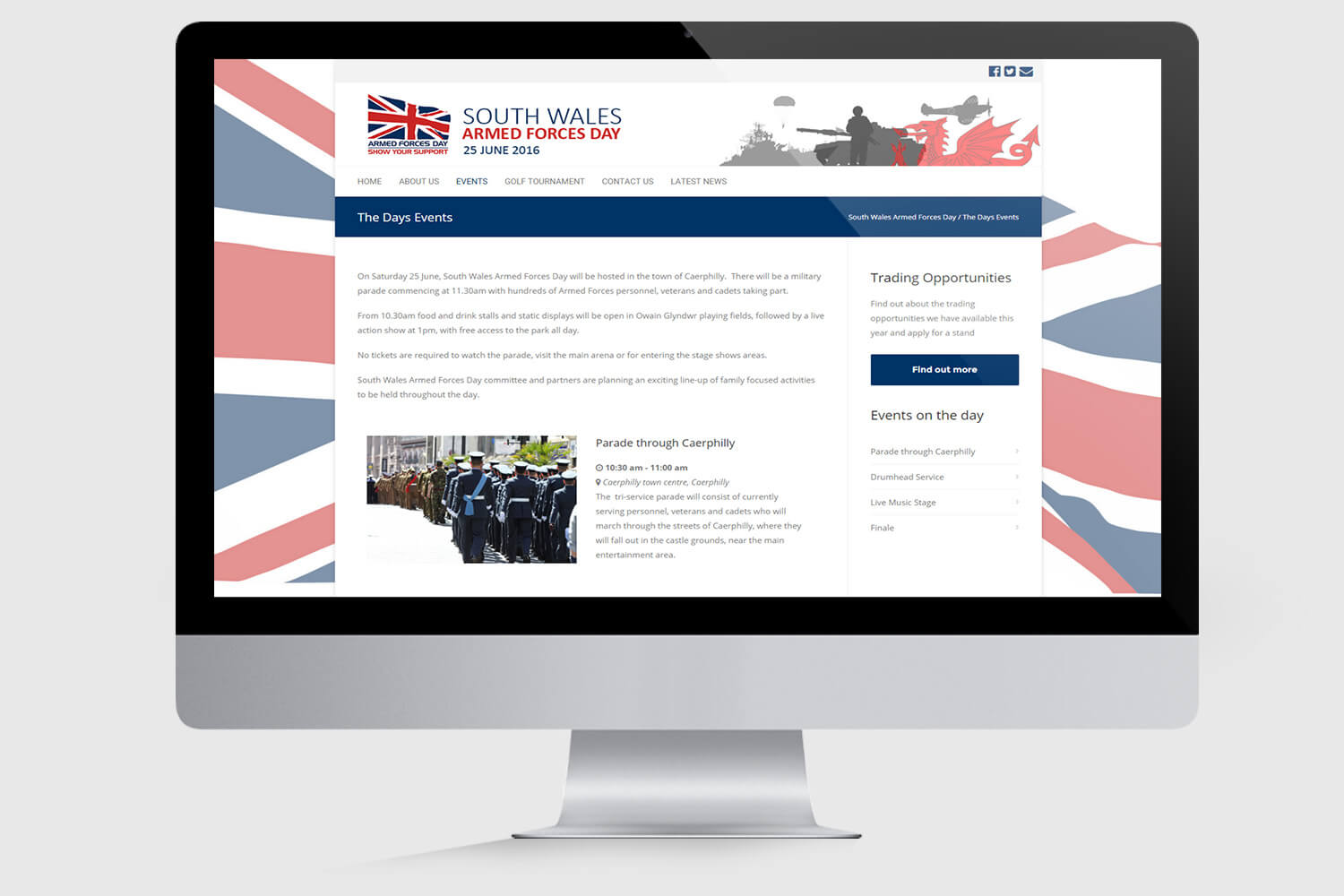South Wales Armed Forces Day Mockup 2