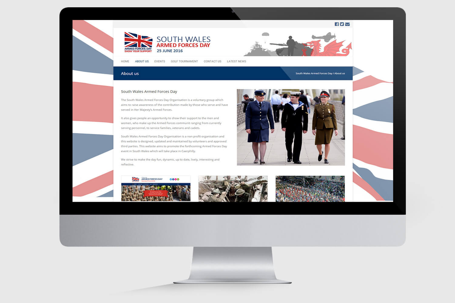 South Wales Armed Forces Day Mockup 3
